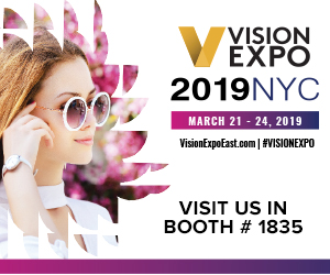 Vision Expo East 2019 March 22-24 - New York, Booth: 1835