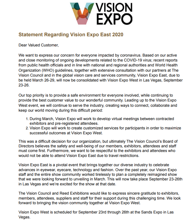 vision-expo-east-2020-cancelled